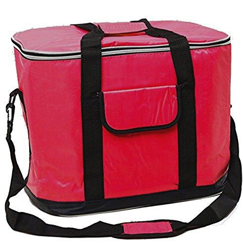 XXL Kühltasche 30L groß rot - faltbar - mit Schultergurt - Thermotasche Isoliertasche Picknick-Tasche Strandtasche Umhängetasche Kühlbox