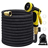 25FT Garden Hose Expandable, Water Collapsible Hose with 10 Function...