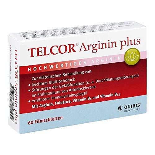 Telcor Arginin plus Filmtabletten, 60 St. Tabletten