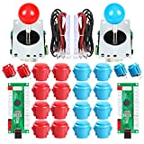 EG STARTS 2 Player USB Controller to PC Game 2X 5Pin Stick + 4X 24mm Push Button + 16x 30mm Buttons for Arcade Games DIY...