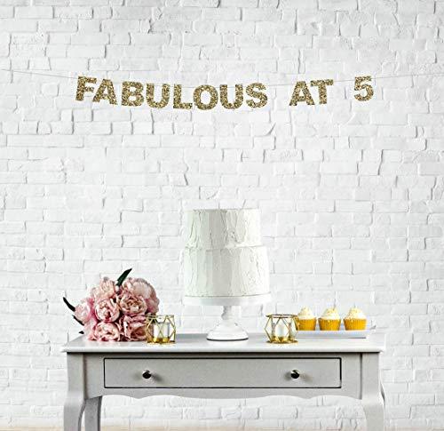Fabulous At 5 Banner de 5 años de amor de 5 años, decoración de 5 años, decoración de 5 años