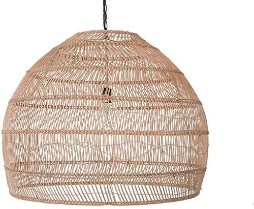 Retro Bambu Pingente Ilha Luminária Antiga Abajur de Rattan Teto Abajur Criativo...