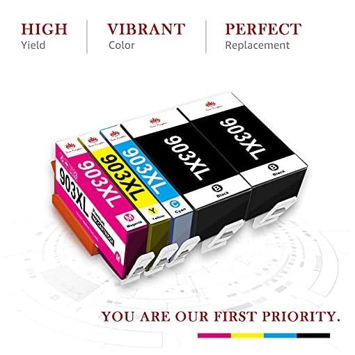 Toner Kingdom Chip de Actualización 903XL Cartuchos de Tinta Compatible para HP 903XL 903 para Impresoras HP Officejet… 2