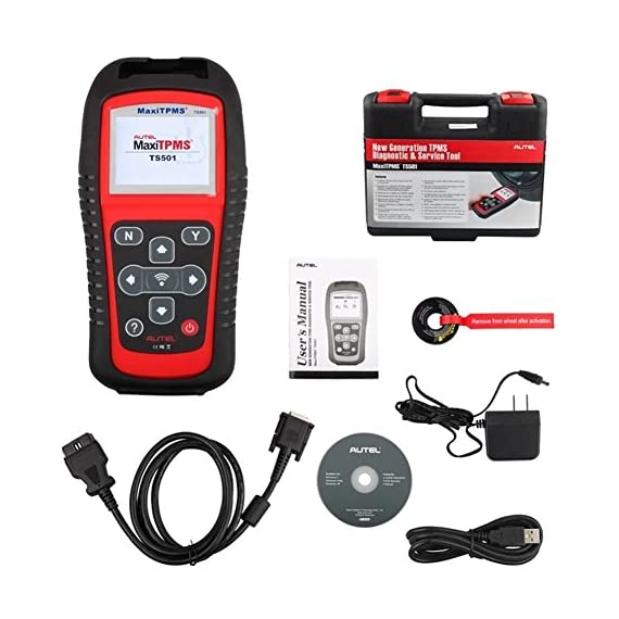 Autel MaxiTPMS TS501 TPMS Relearn Tool Automotive Scan Tool with Activate TPMS Sensors/TPMS Sensor Programming/Program… 7 【Upgraded Version of TS408, 2021 Newest】TS501 TPMS Tool can diagnose newest models up to 2020 with frequent updates. It packed ALL TPMS service options: TPMS programming(MX-Sensors), sensors Relearn/Activation, TPMS Reset and TPMS health diagnose, read sensor data, key fob frequency test. Please send VIN to : ❤Autelonline @outlook.com❤ CHECK COMPATIBILITY. 【TPMS Programming】 TS501 TPMS Programming Tool enables all car enthusiasts to program sensor data to Autel MX-Sensors with ease, saving you the money and trip to a dealership. With TS501, you can program AUTEL MX-Sensor (315/433MHz) with 4 programming options: Copy By Activation, Copy By Manual Input, Auto Create and Copy by OBD( Not available with TS408) to replace the faulty sensor with low battery life or one that is not functioning well. 【Relearn All TPMS Sensors】TS501 has added Relearn by OBD comparing with TS408. To turn off the TPMS warning light after replacement, you need to relearn the sensors to the vehicle! Autel TS501 TPMS Relearn Tool provides 3 ways of on-tool relearn precedures to relearn both OE and aftermarket sensors: Stationary Relearn, Automatic Relearn & OBD Relearn.