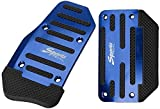 AT/MT Universal Car Aluminio Auto Accelerator Freno Pedal Pad 2pcs / Set Antideslizante Pedal Pad, para Lada Vesta Samara GRANTA NIVA-Blue