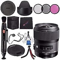 Sigma 35mm f / 1.4DG HSM Artレンズfor Sony DSLRカメラ# 340205+ 67mm 3Pieceフィルタキット+レンズペンクリーナー+マイクロファイバークリーニングクロス+柔軟な三脚バンドル(インターナショナルモデル保証なし