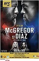 UFC 196 – NATE DIAZ VS CONOR MCGREGOR-インポートされた壁のポスター印刷-30CM X 43CM The Notorious