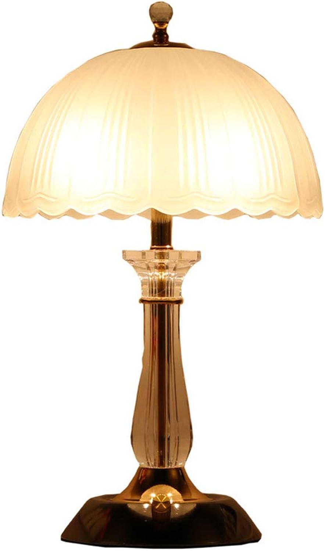 Elegante minimalistische Luxus dimmbare Tischlampe mit Kristalllampe, schne Glaslampe Dekoration Schlafzimmer Wohnzimmer Lampe, Studie Lampe wei (Farbe   Dimmer switch)
