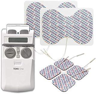 TensCare Tens One+ Electrodos de mariposa reutilizables - Trate grandes áreas de dolor. Electroestimulador Tens digital para Alivio el dolor. Control manual, con 3 modos y 2 Canales para 4 electrodos