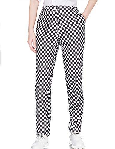 Lesmart Damen-Golfhose, Stretch, volle Länge, leicht, Sport, schlank, leger, gerades Bein XX-Small plaid