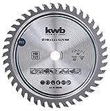 kwb 582368 - Lame de scie circulaire menuisier bois dur 140 x 12,7 mm - Grand nombre - 42 dents Z-42 - Lame de scie fine 75 mm