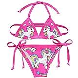 Costume da bagno per bambine, con unicorno, due pezzi Style6 Taglia unica