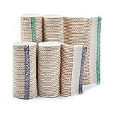 Premium Elastic Bandage Wrap Compression Roll, Includes Hook and Loop Closure, Set of 4 Pack FDA...