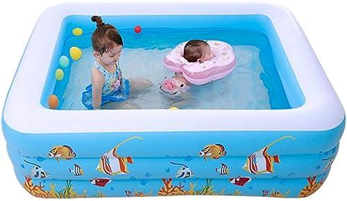 Enfant Gonflable Piscine Intérieur, PVC EnvironneHommest Intérieur Piscine Gonflable pour Enfants portable Eau Jouet Famille Convient pour 1-3 Personnes