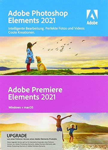 Adobe Photoshop Elements 2021 & Adobe Premiere Elements 2021 - Upgrade|Upgrade|1 Gerät|unbegrenzt|PC/MAC|Disc|Disc