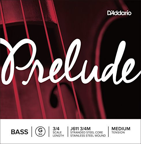 D'Addario Prelude - Cuerda individual Sol para contrabajo, escala 3/4, tensión media