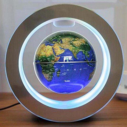 Indoor Magnetische Levitation Globe Power Saving Quiet Home Mooie Decoratie Vakantie Gift diepblauw (4 inch 10.5cm), engels