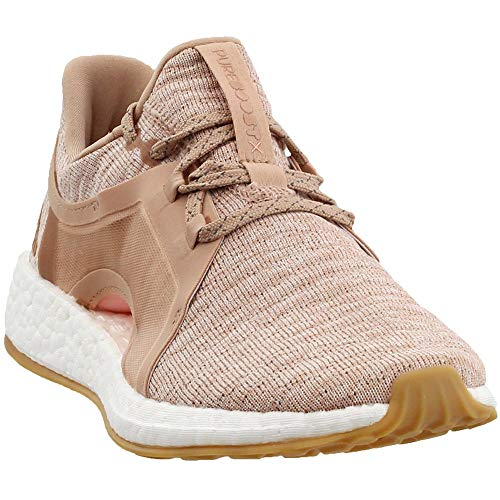 adidas Womens Pureboost X Running Casual Shoes, Beige, 10.5