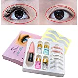 Angmile Mini Eyelash Curler Tool Eyelash Perming Kit for Semi-Permanent Curling Lash Wave Long Lasting Effect