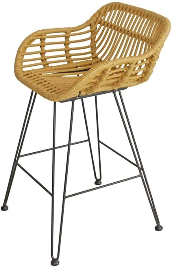 Bar Very popular Chair Rattan Ranking TOP8 Stool with Wicker Footrest