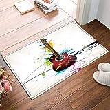 NNAYD1996 Guitarra Pintada Música Impresión 3D, Accesorios de baño, Puerta de Entrada, Puerta de atrás, Cocina, Sala de Estar, baño