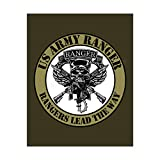 United States Army Ranger'Rangers Lead the Way' Logo -8 x 10'-Military Wall Art Print-Ready to Frame. Patriotic Home-Office-Cave Decor. Great Gift for All Who Served! Display Your Pride-Go Army!