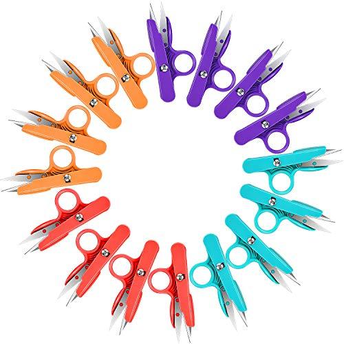 16 Piezas Tijeras de Hilo Cortahilos de Colores Tijeras de Bordado Tela Cortador de Hilo de Costura Poda Mini Pinza de Corte para Suministros de Arte Artesanal