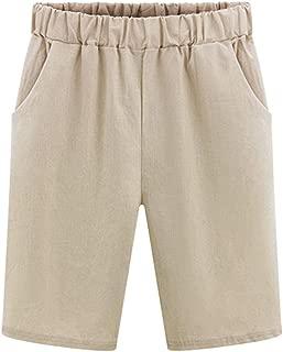 Women Elasticated High Waist Shorts Ladies Denim Paperbag Short Pant Plus Size