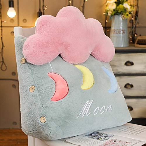 N / A Cartoon Ins Lumbaler Stern Mondwolke Kissen Plüschtier weiches ausgestopftes Kissen Büro Wohnkultur Kawaii Geburtstagsgeschenk für Kind Mädchen 45 * 25 * 50cm