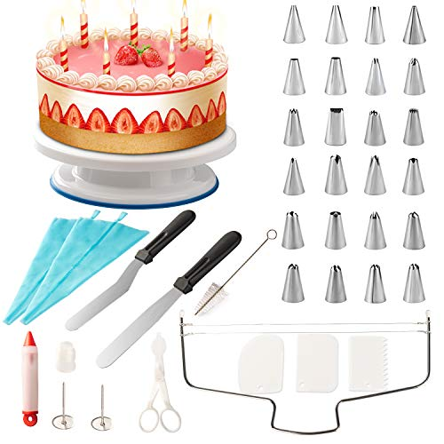 Grandma Shark Cake Turntable Stand Cake Decorating Plattenspieler-Halterung - Cake Making Zubehör-Set