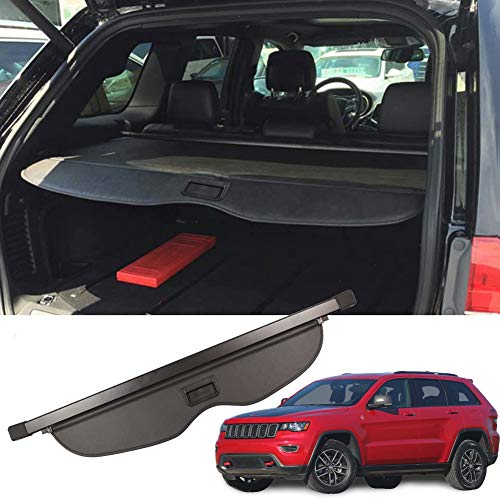 MarretooCargoCoverFactory Stylefor Jeep Grand Cherokee Accessories 2011-2020 2021 Black Retractable Trunk Security Shield Shade