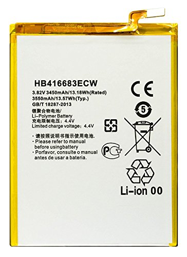 Bastex Internal Replacement Battery for Google Nexus 6p (H1511 & H1512), 3.82V(3450mAh)(13.18Wh) Li-Polymer with Free Repair Tool Kit for Huawei Google Nexus 6p
