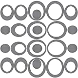 45 Pieces Adhesive Oval Bath Treads Anti-Slip Bathtub Stickers Non Slip Traction to Tubs Bathtub Stickers Adhesive Decals for Bathtub Showers, Pools, Boats, Stairs (Gray)