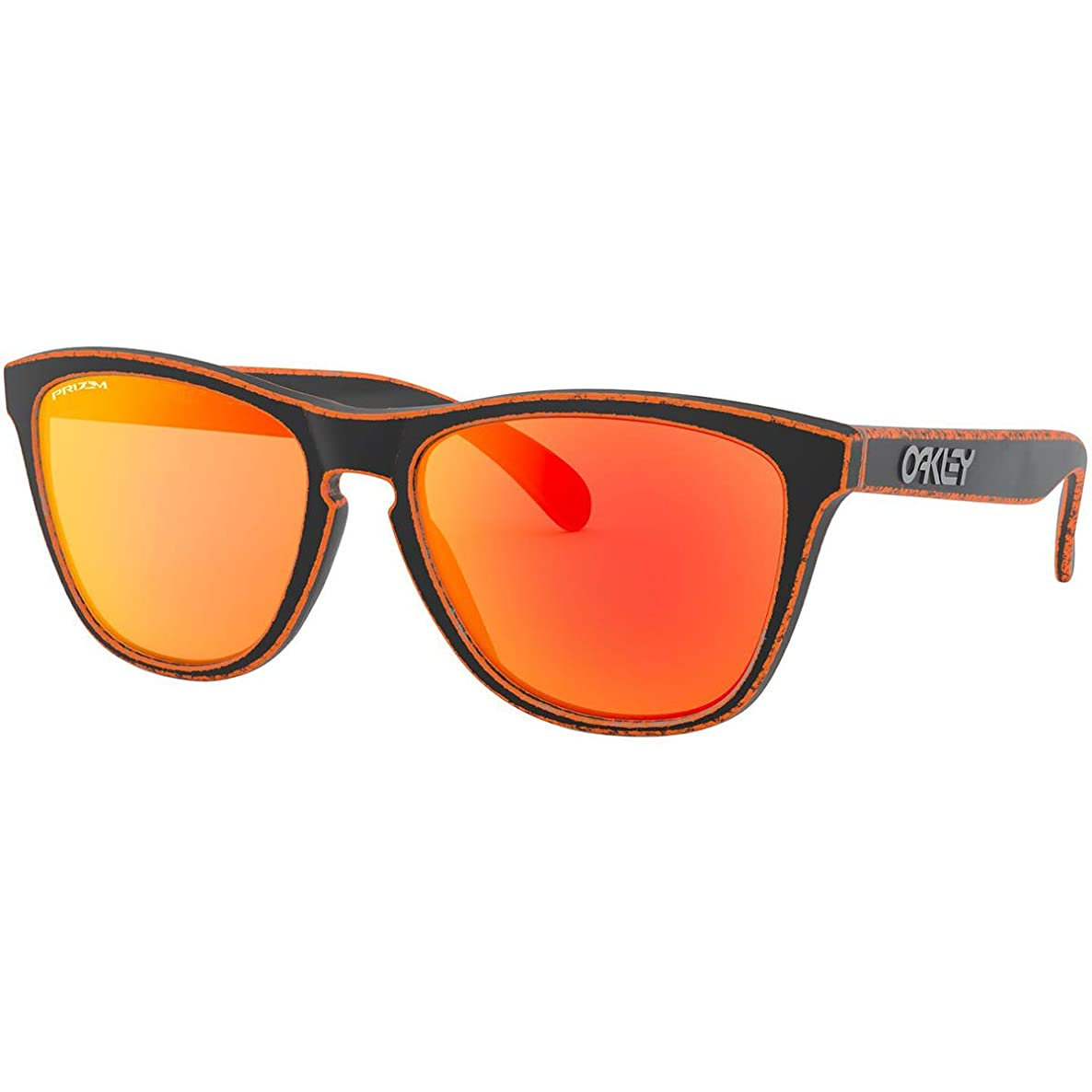 Oakley Men's Frogskins Sunglasses,OS,Raceworn Orange/Prizm Ruby