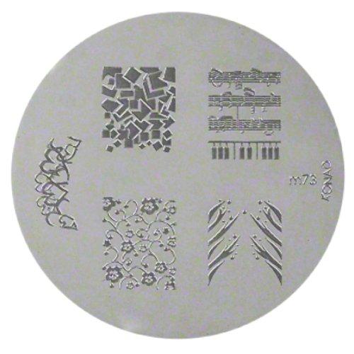 KONAD Stamping Schablone M73 - Metallschablone wiederverwendbar mit schönen Stempelmotiven
