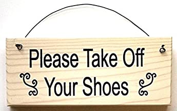 All About Signs 2 Please Take Off Your Shoes with curlie cues