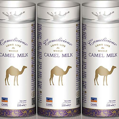 Camelicious Kamelmilch Long Life Whole Long Mindesthaltbarkeitsdatum 01/2021, 3 x 235 ml