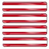 Biomar Labs® 4 x Aufkleber 3D Gel Silikon Stickers Austria Österreich Österreichische Flagge Fahne Flag Autoaufkleber F 1