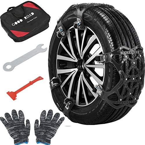 Car Snow Chains, 6 Pcs Snow Tire Chains, TPU Car Anti Slip Snow Tire Chains...