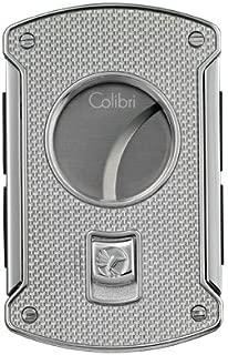 Colibri Slice Cutter Silver Carbon Fiber Polished Chrome Lighter - Colibri KNF000711 by Colibri