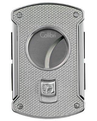 Colibri Slice Cutter Silver Carbon Fiber Polished Chrome Lighter - Colibri KNF000711