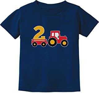 2nd Birthday Gift Construction Party 2 Year Old Boy Toddler Kids T-Shirt
