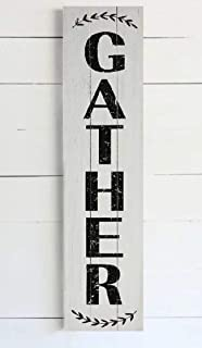 Gather Wood Plank Wall Decor Vertical 48 inches birch pallet sign