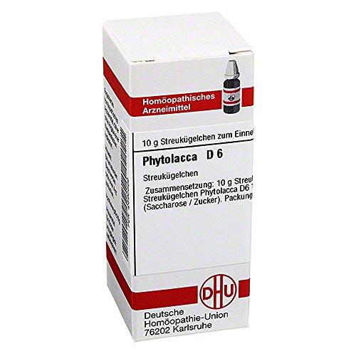 DHU Phytolacca D6 Globuli, 10 g Globuli