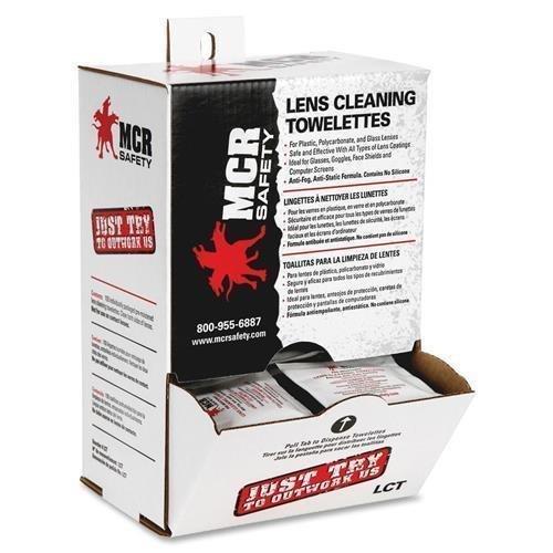 MCR Lens Clean Towelettes, Antistatic/Anti Fog Formula, 100/BX (UB700) by CSI