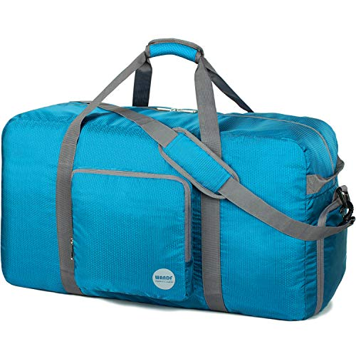 Foldable Duffle Bag 120L, Super Lightweight Travel Duffel for Luggage Sports Gym Water Resistant Nylon by WANDF
