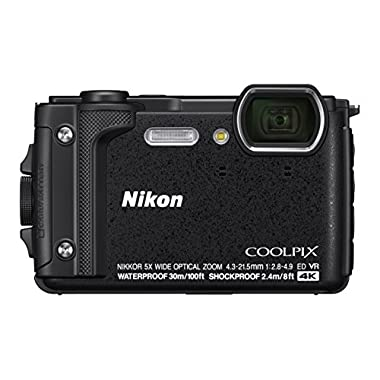 Nikon W300 Waterproof Underwater Digital Camera with TFT LCD, 3 , Black (26523)