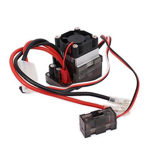 RCAWD Controlador de Velocidad (ESC) 320A Cepillado eléctrico bidireccional con disipador de...