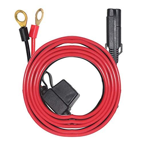 ACAMPTAR El Cable de Terminal de Anillo - SAE una ArnéS de Terminal de Anillo o Conjunto de Terminal de Anillo de ConexióN/DesconexióN RáPida, Fusible de 10A