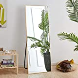 Rose Home Fashion Full Length Mirror, Aluminum Alloy Thickened Frame-64' x21', Floor Mirror, Standing Mirror, Full Body Mirror, Large Mirror, Floor Length Mirror, Wall Mirror, Gold Frame